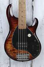 Sterling Music Man StingRay5 Ray35QM 5 String Electric Bass Guitar with Gig Bag