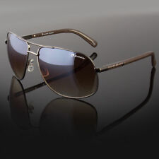 New Designer Square Aviator Sunglasses Metal Bar Retro Frame Men's Fashion