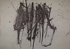 Emilio SCANAVINO  - Composizione 4- 1960 !!! - Rara litografia originale firmata
