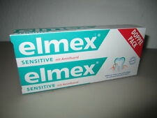 2 x 75ml Elmex Sensitive with Aminfluorid Toothpaste New from Germany