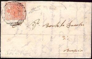 LOMBARDO VENETO 1854 - 15 c. n. 6 SPL CAPO DI PONTE p. 5 x BRESCIA € 260++