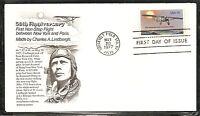 US SC # 1710 Lindbergh Flight FDC. Aristocrat Cachet