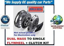 FOR SEAT TOLEDO 2005-2009 1.9 BORG+BECK DUAL MASS TO SINGLE FLYWHEEL+CLUTCH KIT