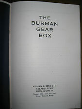 VINTAGE BURMAN GEARBOX REPAIR CATALOGUE FROM 1927 - 1940 ONWARD