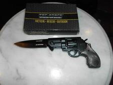 Couteau Revolver 38 Special Style Assist Tac-Force Acier 440 Poignées TF760BGY