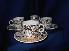 Staffordshire Georgia Royal Tudor Ware Cups and Saucers