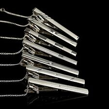Practical Tone Multi Style Pin Tie Clamp Metal Silver Bar Necktie Clip Clasp