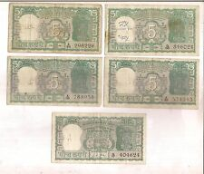 INDIA - 5 RUPEE NOTE - S JAGANNATHAN [ 4] , L K  JHA  [ 1 ] - TOTAL 5 IN 1 LOT