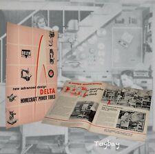 1959 Vintage Original Delta Rockwell Homecraft Power Tools Catalog ~ Woodworking