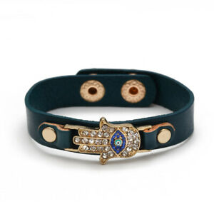 Evil Eye Fashion leather bracelet Turkish Eye Ladies Diamond Christmas Gift
