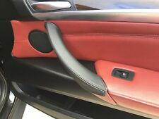 FITS BMW X5 E70 07-20131X PASSENGER DOOR HANDLE BLACK REAL LEATHER COVER