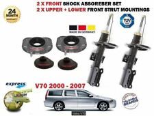 FOR VOLVO V70 2000-> 2X FRONT STRUT UPPER LOWER MOUNTING SET+ SHOCK ABSORBER KIT