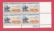 U.S. SCOTT 1176 MNH 4 CENT PLATE BLOCK OF 4 - 1961 - RANGE CONSERVATION
