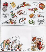 Astérix - carte Astérix et Obélix + autocollants. La Poste 2000. .