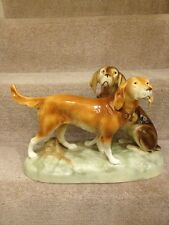ROYAL DUX PORCELAIN HUNTING DOGS