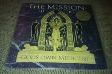 The Mission UK Gods Own Medicine LP Vinyl Record EXCELLENT Radio DJ Promo Stamp