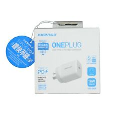 Momax AU Plug OnePlug 18W USB-C PD Fast Charger for iPhone 8, X, XS, XR XS Max