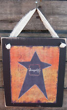 Simplify Star Hanging Wall Sign Plaque Primitive Rustic Lodge Cabin Decor