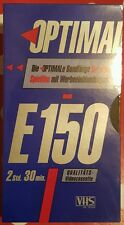 Optimal VHS Videokassette E 150 - neu & ovp !!!
