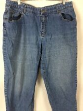 Talbots Womens Jeans Plus Sz 18W (40x29.5) Boyfriend Medium Wash Straight E129