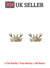 A Pair of gold plated 925 Sterling silver cute Crab Earring mermaid Ear stud