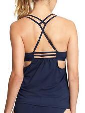 Athleta Hang Loose Tankini Top Dress Blue, M, Swim Surf Paddle Beach Board
