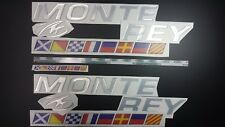 "MONTEREY boat Emblem 30"" + flags + FREE FAST delivery DHL express"