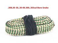 30cal .308cal .303cal 7.62mm Boresnake Gun Brushes Cleaning Rope Bore Snake