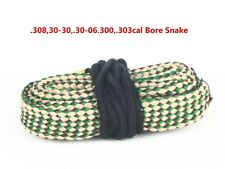30cal .308cal .303cal & 7.62mm Bore Snake Gun Brush Boresnake Cleaning Rope New