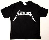 METALLICA Baby Infant T-shirt Heavy Metal Rock Band Tee 6M,12M,18M,24M Black New
