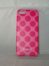 COACH Cell Phone Cover ~Pink*Red*White ~ iPhone 5 ~ Original Coach Product  NIB