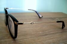 New GUCCI Eyeglass/Frame Black & GOLD Clear Lens tags case cloth
