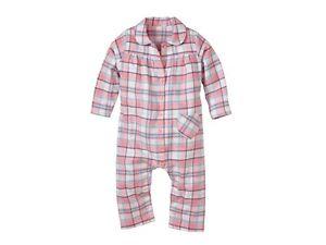 Baby Girl Flannel Sleep Suit Pyjamas Sizes: 2 - 24 months  100% cotton 3 Designs