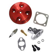 CNC Red Cylinder Head Cover&Silver Inlet Manifold Fit 80cc Motorized Bicycle