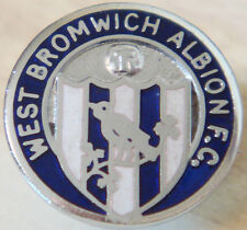 WEST BROMWICH ALBION Vintage club crest type badge Brooch pin In chrome 19mm Dia