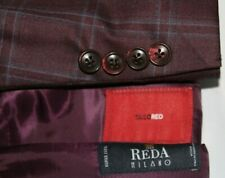 TALIO-RED Men's 40S Made in Canada REDA MILANO 130's Wool Windowpane Blazer