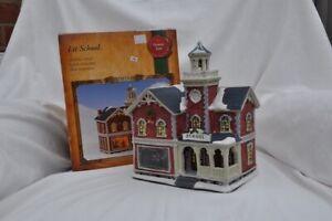 Lit Christmas Village. Lit School. Boxed. Top Condition
