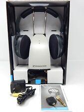 Sennheiser On Ear Wireless TV RF Headphones Charging Dock - Black (RS120)