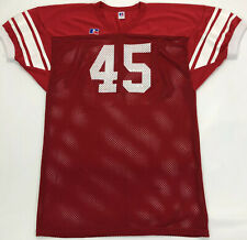 vtg 90s Russell Athletic Football Jersey LARGE Made USA #45 Red White EUC