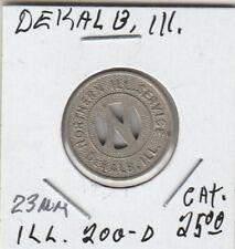 (H) Token - Dekalb, Il - Northern Illinois Service - G/F One Fare - 23 Mm