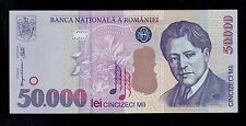 ROMANIA  50000 LEI  2000  PICK # 109A  AU-UNC BANKNOTE.