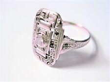 Art Deco Ring Weißgold 585 mit Diamanten, 2,50 g
