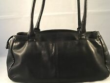 "GIANI BERNINI ~  Black Satchel Shoulder Bag Purse  6.25"" X 4"" X 12"" sd 9"""