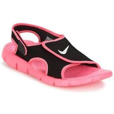 Nike Sunray Adjust 4 > Negro/Rosa > Junior Girls Size UK 12.5
