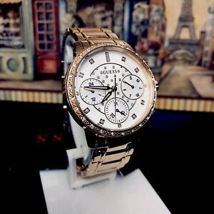 AUTHENTIC GUESS LADIES' SUNNY WATCH ROSE GOLD TONE RRP:$399 U1022L3 Brand New