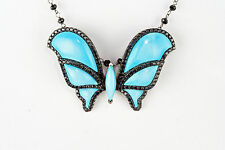 Rarities Magnesite Butterfly Necklace Carol Brodie Sterling Silver