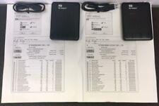 LOT 2 WD My Passport External Hard Drives 500GB ST95005620AS & ST500LM000-1EJ162