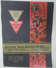Vintage Industrial Rubber Products Catalog 52 Atlantic India Designers Engineers