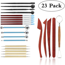 Wax Polymer Clay Carving Tools For Shaping Embossing Pottery Sculpting 23Pcs