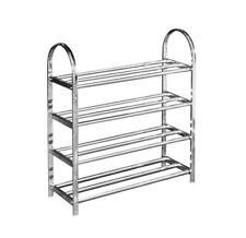 4 Tier Stainless Steel Shoe Storage Rack Display Rack Home Furniture Shoe Rack